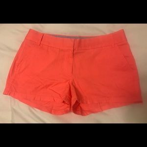 J. Crew Chino Shorts in Neon Pink
